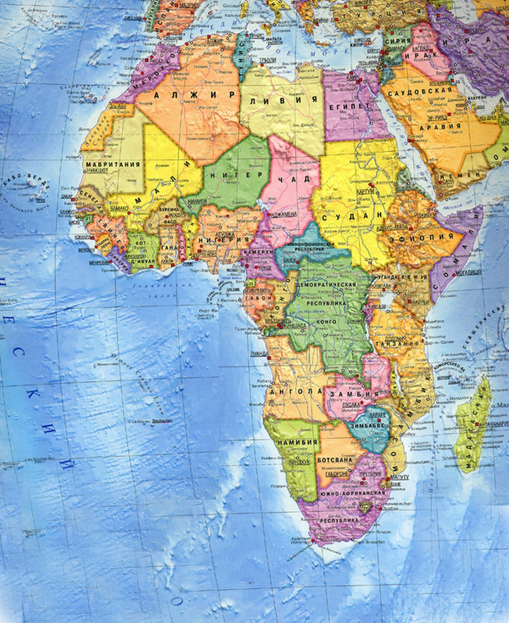 Смотреть карту африки из школьного атласа 6 класса